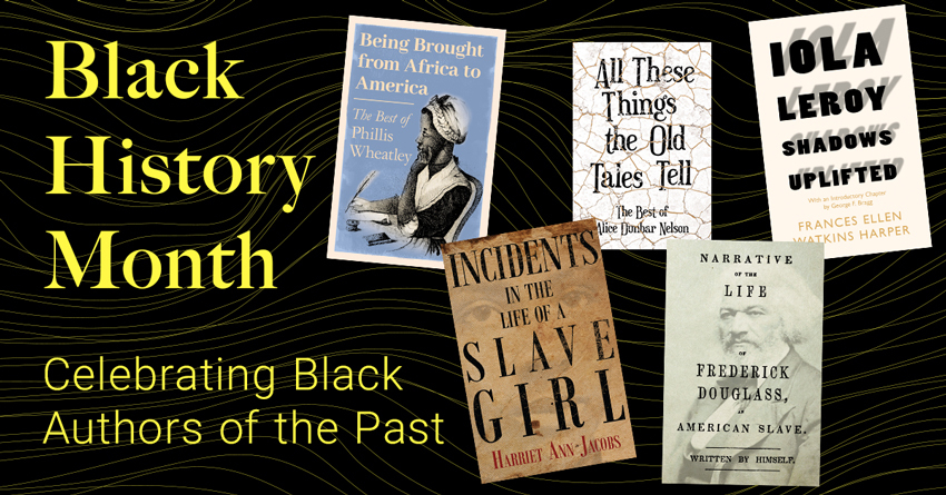 Black History Month – Celebrating Black Authors of the Past