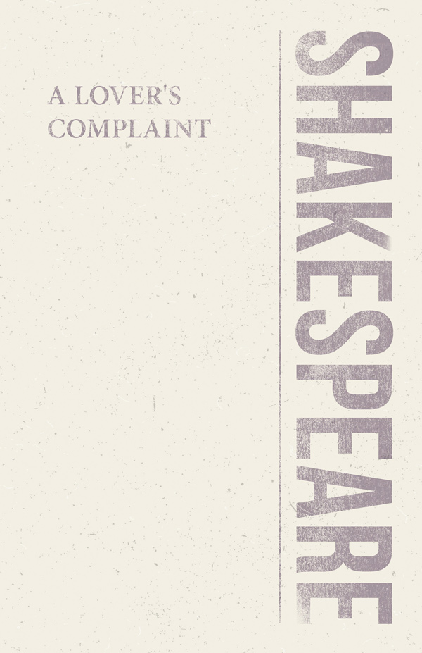 9781528705318 - A Lover's Complaint - William Shakespeare