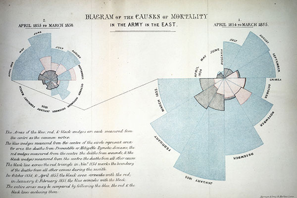 Florence Nightingale Mortality Statistics Diagram